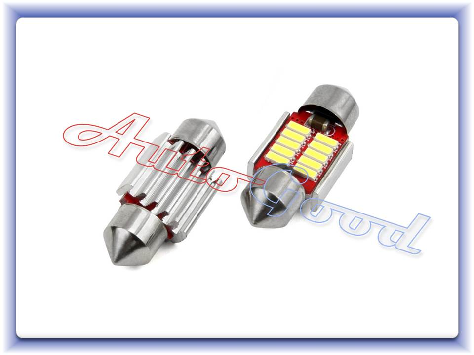LED CANBUS 10smd 4014 Festoon 31mm White 12V/24V